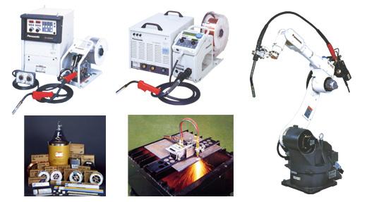 溶接機器と材料